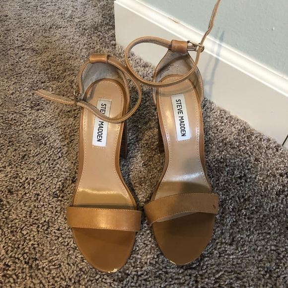 Steve Madden Shoes - Brown Leather Steve Madden Heels